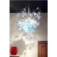 Xo Art Glass Chandelier (xo-9001)