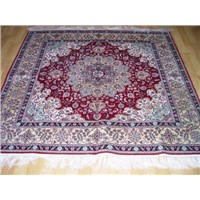 Hand Made Silk Carpets Square Shape