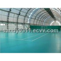 Indoor PVC Sports Flooring In Green