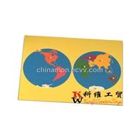 Montessori Toys - Puzzle Map of World (KWS-G-002-1)