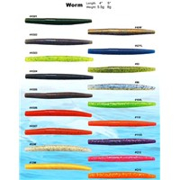 hiqh quality soft plastic fishing lures - Worm Series