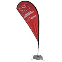 Flag Banner with Water Tank Base (FP-SKL14-3)
