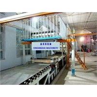 Paper-faced gypsum board production line