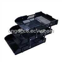 Pulling stlye file tray with   mental button