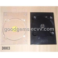 5.2mm PS Transparent & Black Single & Double DVD Discs Tray (D003)