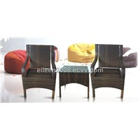 Rattan furniture- chairs and table set