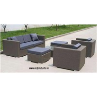 Synthetic Wicker Sofa Set