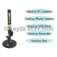 Portable HD Pen DVR Recorder with Base built-in 4GB