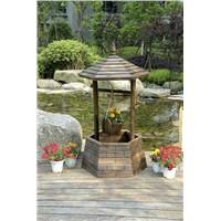 wooden flower pot & planter