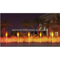 Fire and Water Mingle Fountain