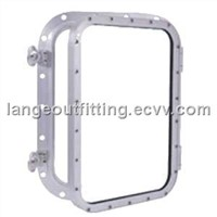 Opening bolted rectangular window