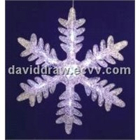 16-Light Acrylic Snowflake LED Lights