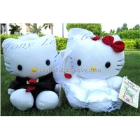 Set of 2 HELLO KITTY soft plush dolls