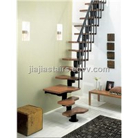 wood-steel staircase (interlocking tubular spine)