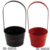 Metal Flower Gift Basket