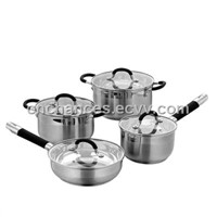 8pcs Stainless Steel Stockpot