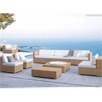 All-weather outdoor wicker furniture