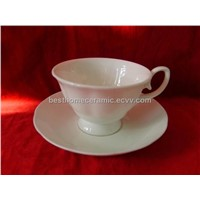 Fine Bone China Cup with Saucer (CS-001)
