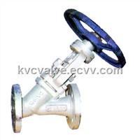 Y Type Jacket Vacuum Globe Valve / Vacuum Valve