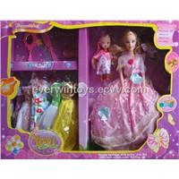 Barbie Dolls with Kelly & 7 Dress