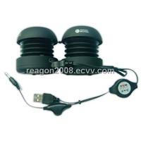 double capusule speaker twin show speaker retractable mini speaeker