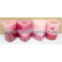 heart-shaped pillar candle