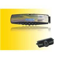 bluetooth handsfree rearview mirror with caller-ID