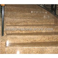 Golden Marble Stair Riser