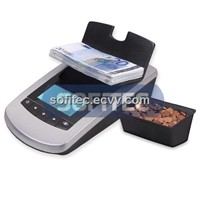 ICM3000 money scale which counts both coins & banknotes in the same device