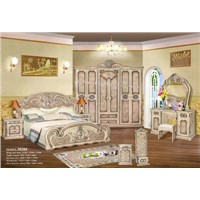 Classical Bedroom Furniture bed night table wardrobe 3020A