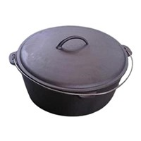 Cast Iron Pot with Convex Lid