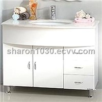 European Style High Gross White MDF Bathroom Vanity