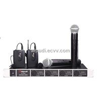 Four Channels VHF Wireless Microphone