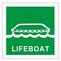 Marine Safety Signs - Lifeboat