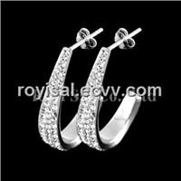 Crystal Edge Fancy Ear Studs Jewelry
