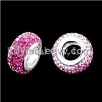 Crystal Edge Fancy Bead Silver Jewelry (CP-344-1)