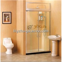 Two Fixed Two Linked Sliding Doors Shower Screen