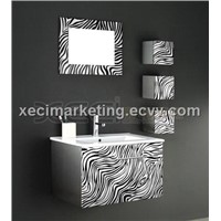 Black and White Stainless Steel Cabinet (XC9008)