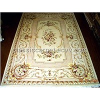 HAND KNOTTED SILK AND WOOL CARPETS FRENCH FLOWER DESIGN
