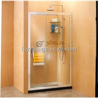 One Fixed Two Linked Slding Doors Shower Screen