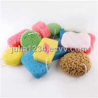 color bath sponge cleaning sponge