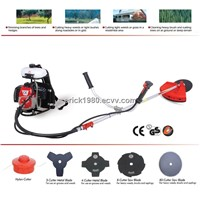 42.7cc knapsack brush cutter with double bicycle handle