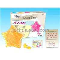 3D star puzzle game toy
