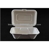 600ml lunch box bagasse dinnerware