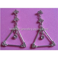 Charming earrings with crystal rhinestones (WBE002ECVV)