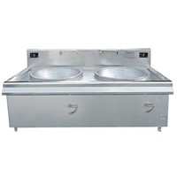 Commercial induction cooker double head big pan stove