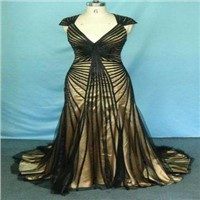 Ribbon Decorated Evening Dress