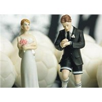 Soccer Player Groom Cake Topper