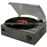 MP3 direct encoding turntable & cassette player