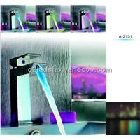 led faucet/led faucet light/led faucet shower/faucet/CE ROHS faucet/A-2102